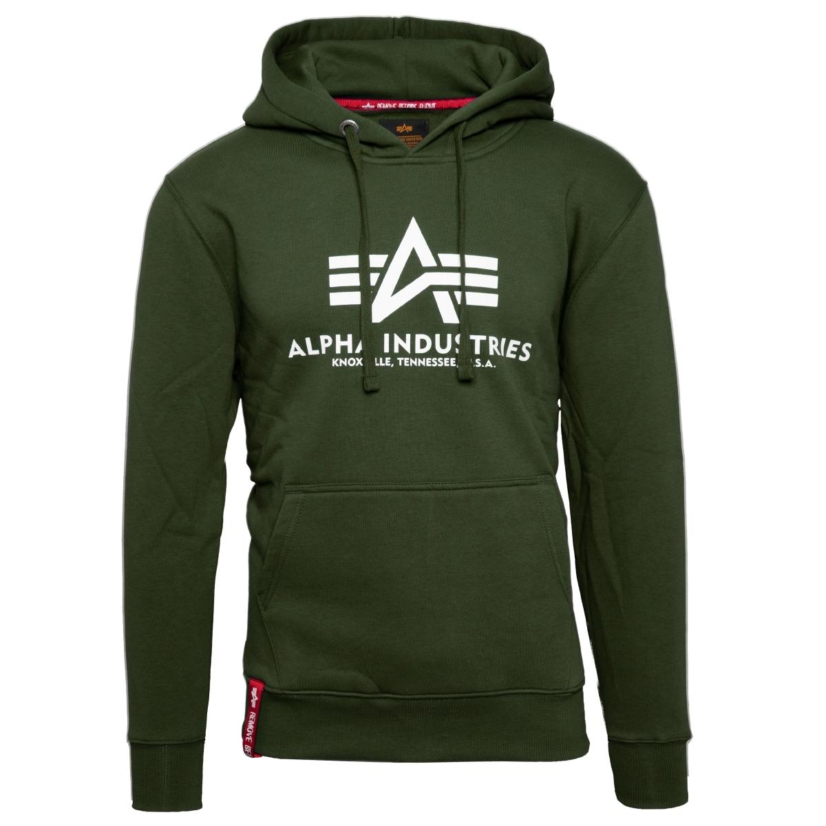 Alpha Industries Basic Hoody Sweatshirt Kapuzen Pullover Hoodie black 178312-03