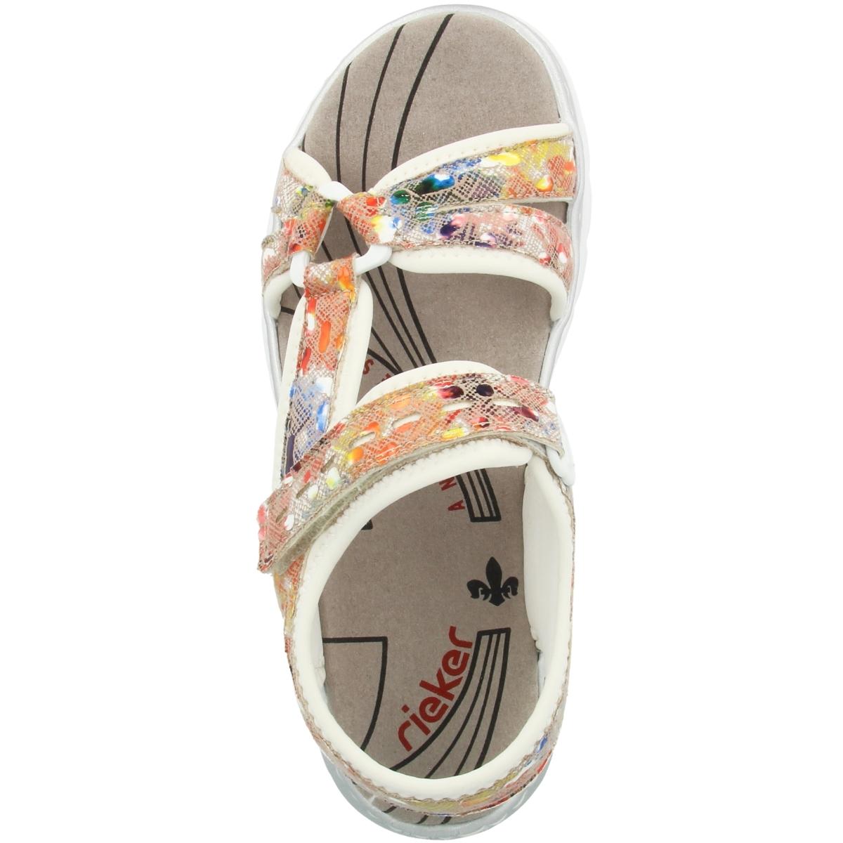 Details zu Rieker 66979 Damen Sandalen Antistress Sandaletten Riemen Pantoletten Slipper