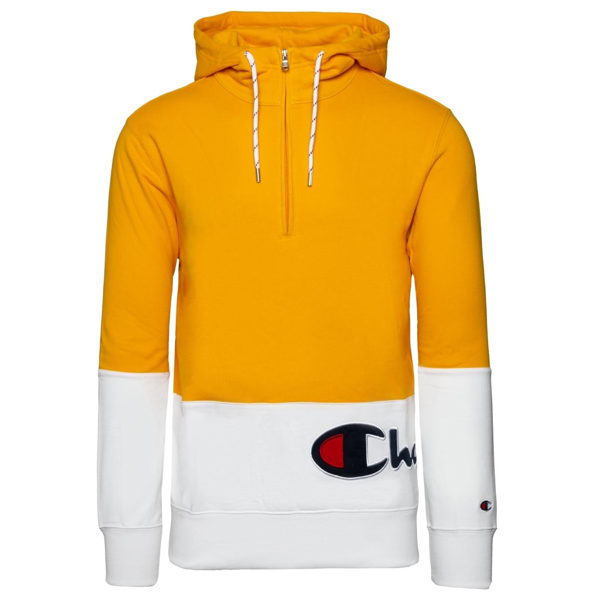 Champion Hooded Half Zip Sweatshirt Herren Hoodie Kapuzen Pullover 214746-KK001