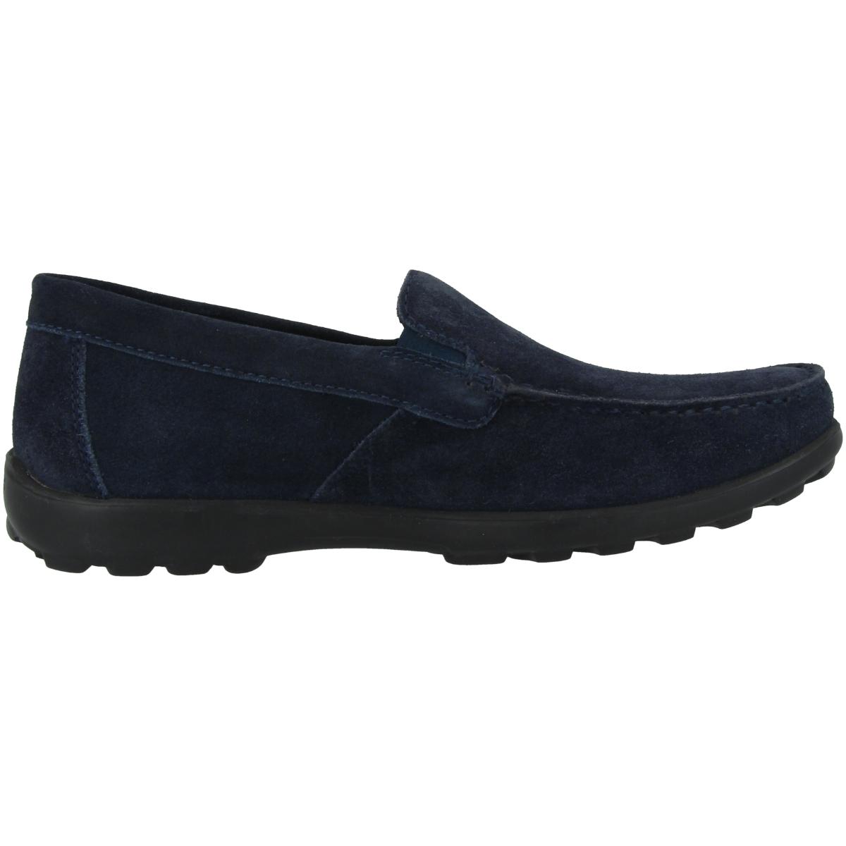 GEOX U Romaryc B Men Schuhe Herren Halbschuhe Leder Slipper U025EB00022C4002