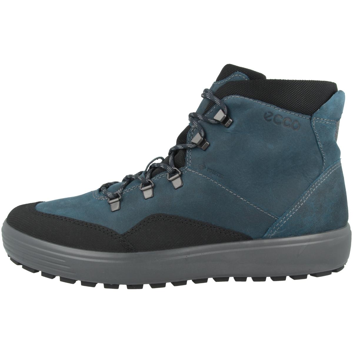 Details zu Ecco Soft 7 Tred Men GTX Boots Gore Tex Schnürschuhe Hiking Stiefel 450264 50805